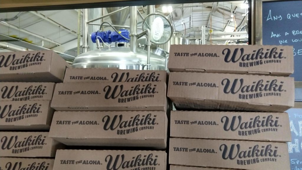 waikiki brewing company brew room